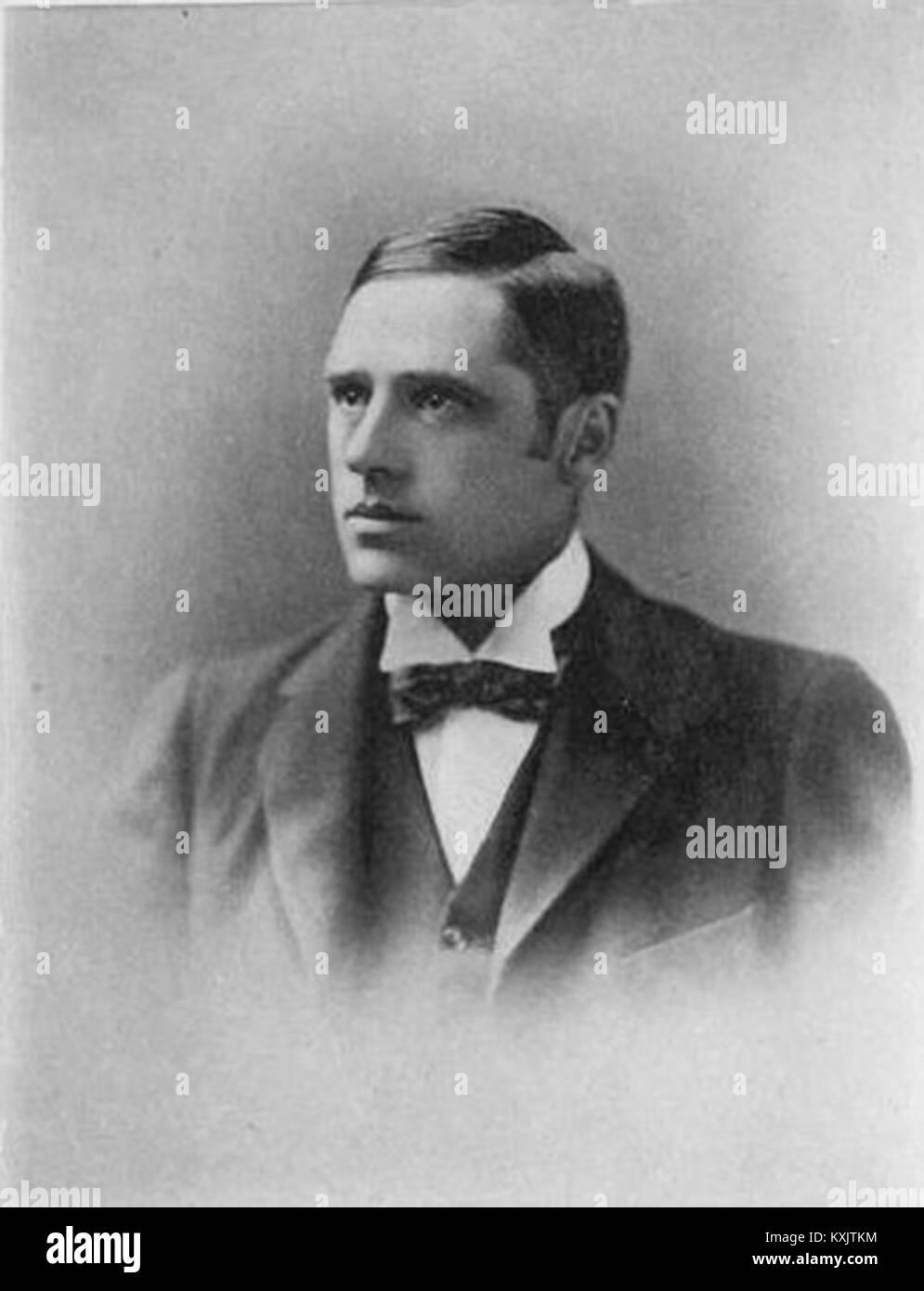 Banjo Paterson, Andrew Barton 'Banjo' Paterson, Australian poet and author, wrote 'Waltzing Matilda', - Stock Image