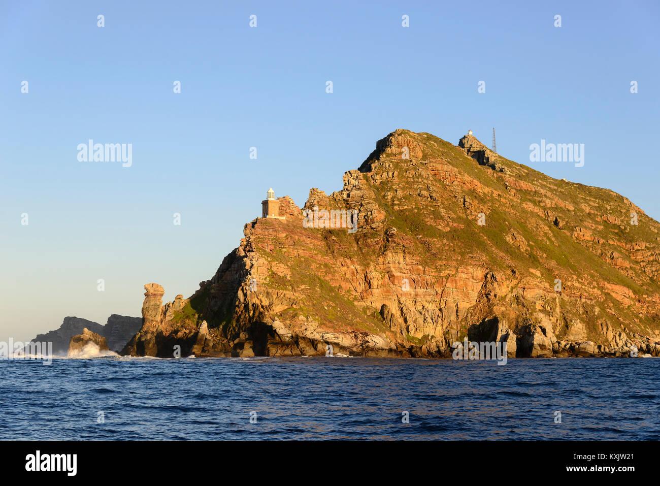 Cape of good Hope, South Africa, Indian Ocean and Atlantic Ocean - Stock Image