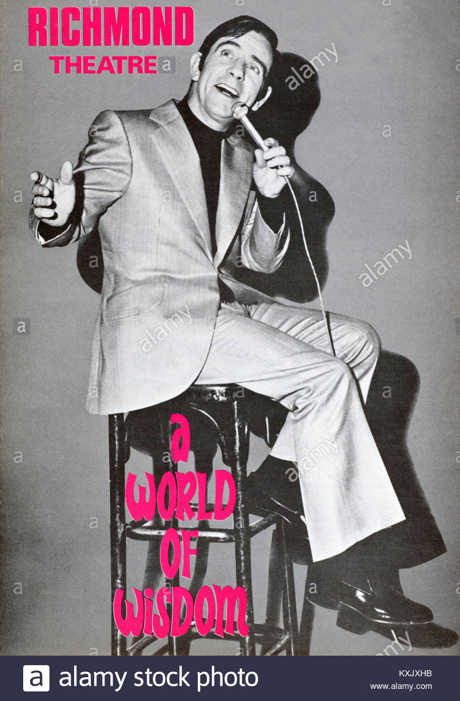Programme for the Norman Wisdom show at the Richmond theatre 1979 - Stock Image