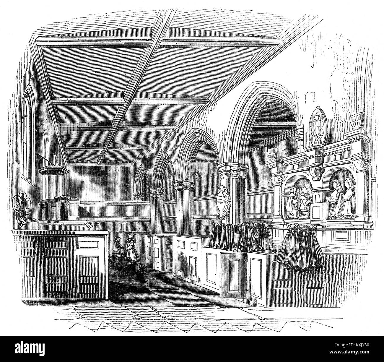 The Chapel Royal of St. Peter ad Vincula ('St. Peter in chains'),  the parish church of the Tower of London - Stock Image