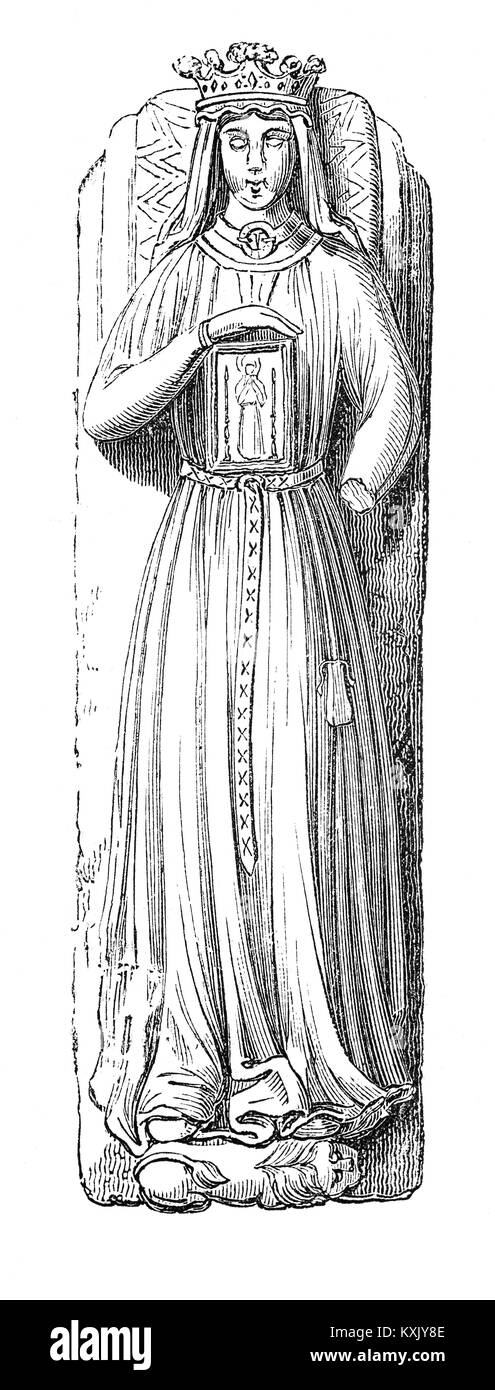 The effigy of Berengaria of Navarre, Queen of England and wife of  King Richard I (1157 – 1199) and King of England - Stock Image