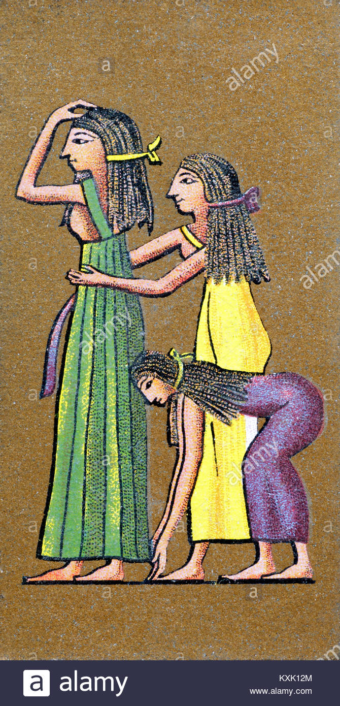 Depiction of ancient Egyptians tearing clothes and covering themselves in mud after the death of a King - Stock Image