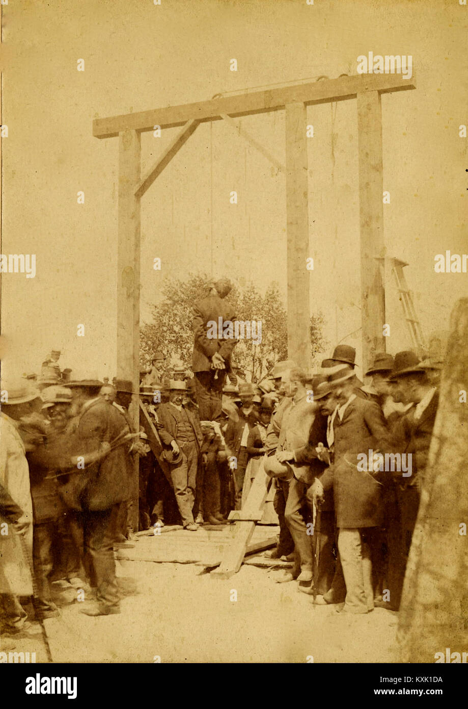 Denver Hanging In 1887 - Stock Image