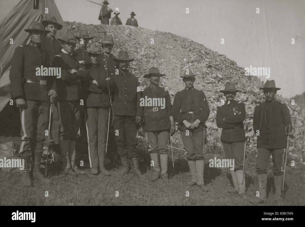 Militia At Cripple Creek, Colorado 1903 - Stock Image