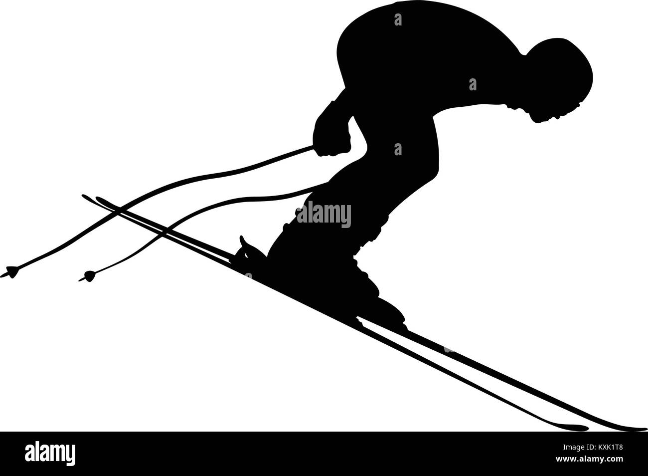 start skier athlete in competition alpine skiing Stock Vector
