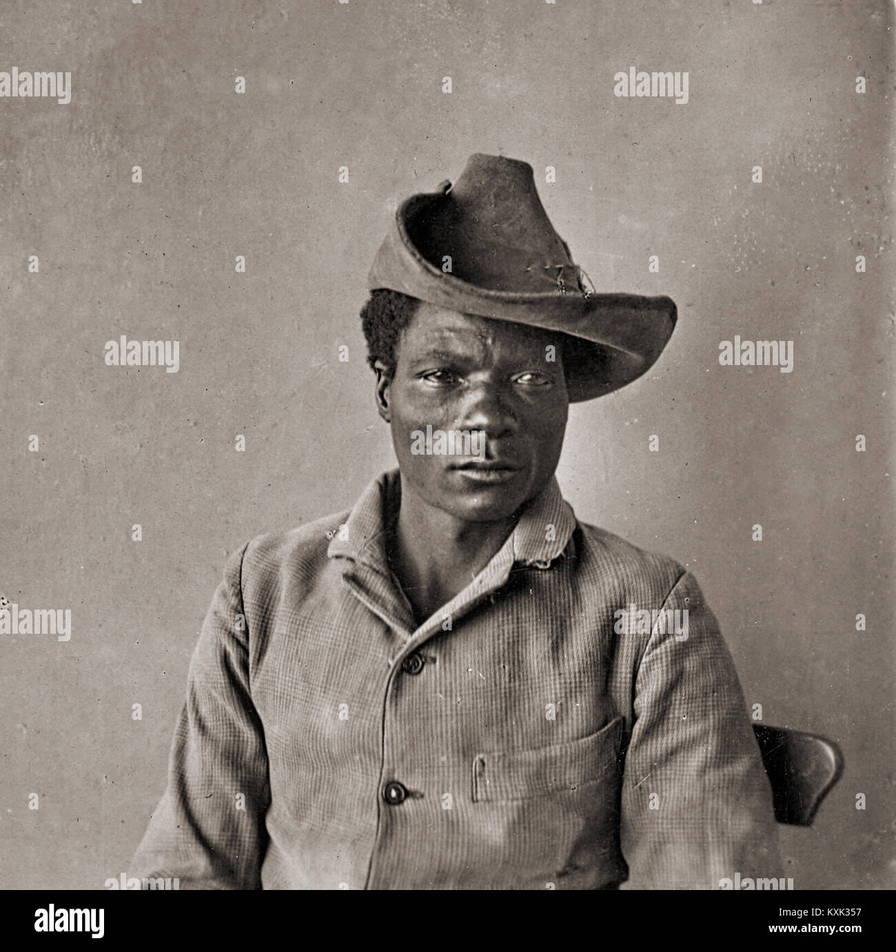 Insurrectionist against German Colonists Herero Stock Photo