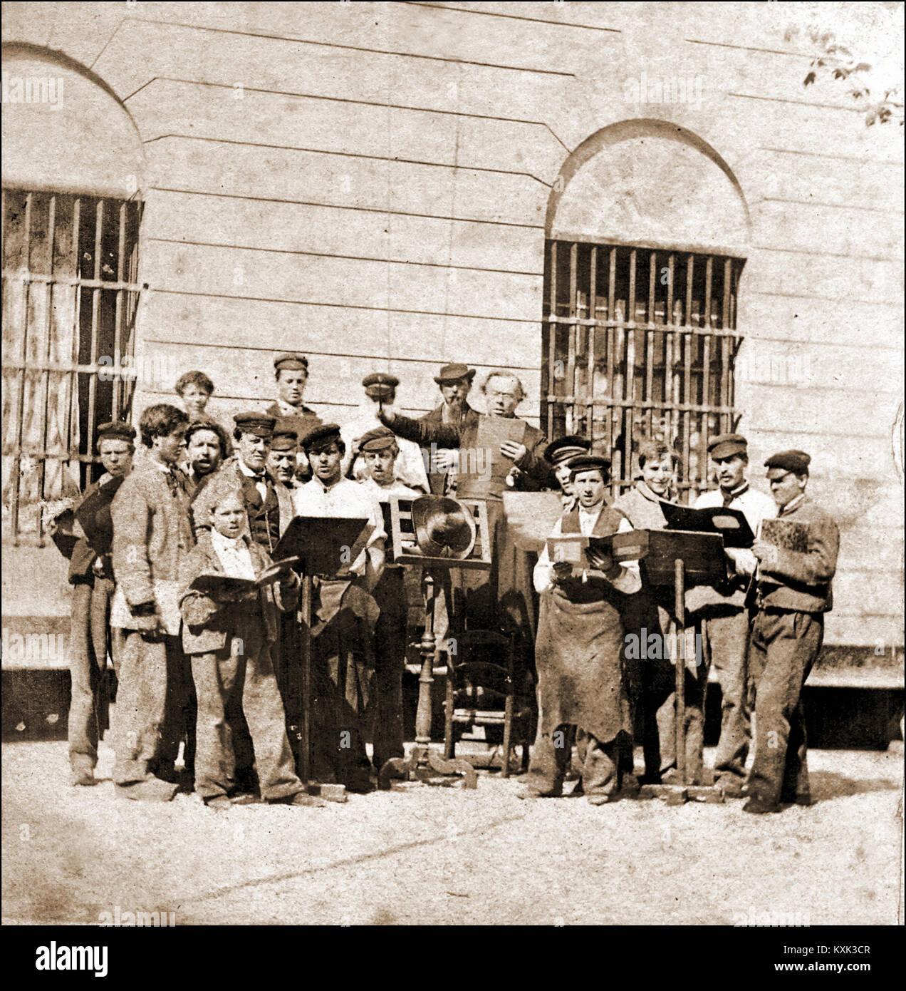 Sing Sing of workmen's Choir - Stock Image