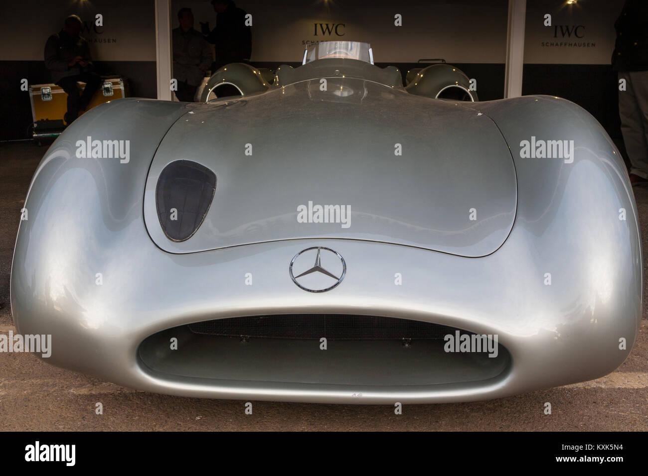 1954 Mercedes Benz Silver Arrow W196R Streamliner, GRRC 74th Members  Meeting, Goodwood, West