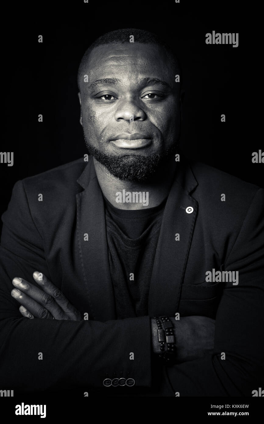 Portrait of former german soccer player, trainer & manager Gerald Asamoah - Stock Image