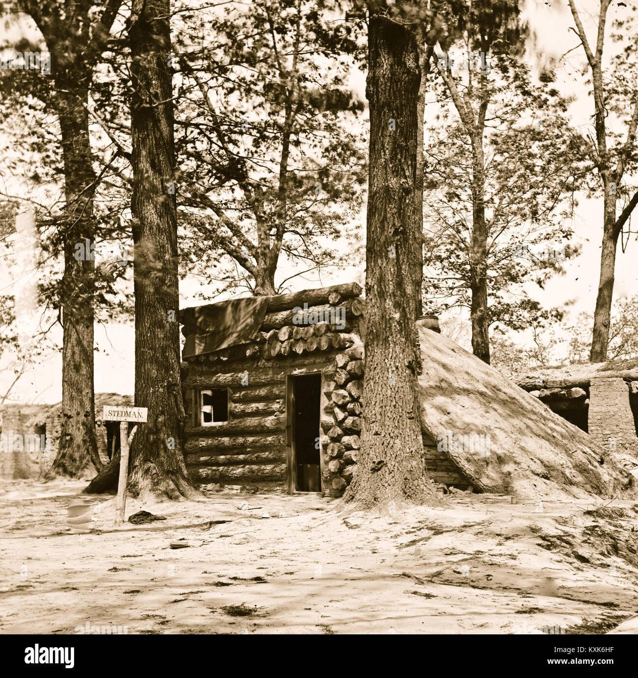 Petersburg, Virginia. Bomb-proof at Fort Stedman - Stock Image
