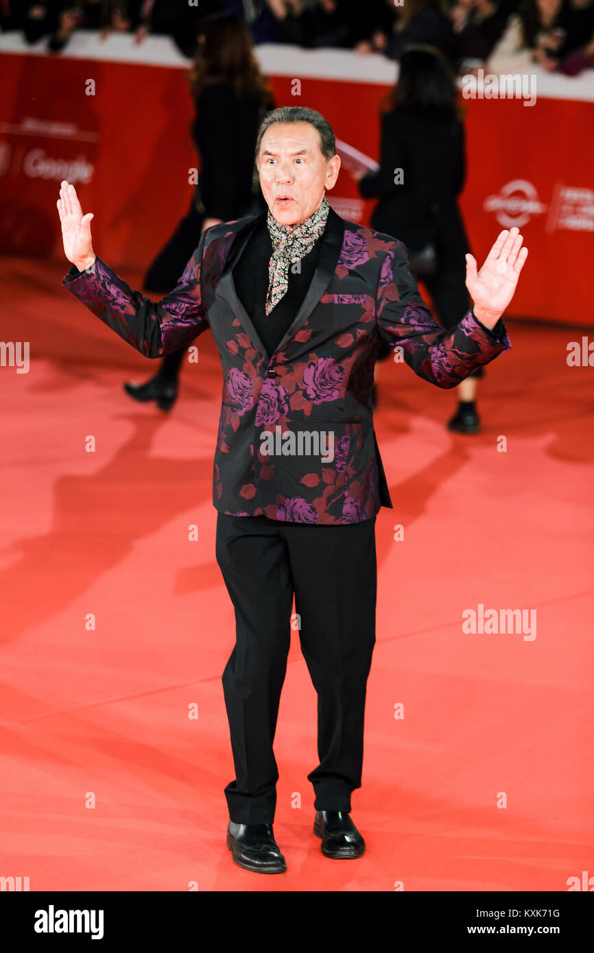 ROME, ITALY - OCTOBER 26: Wes Studi walks a red carpet for 'Hostiles' during the 12th Rome Film Fest at - Stock Image