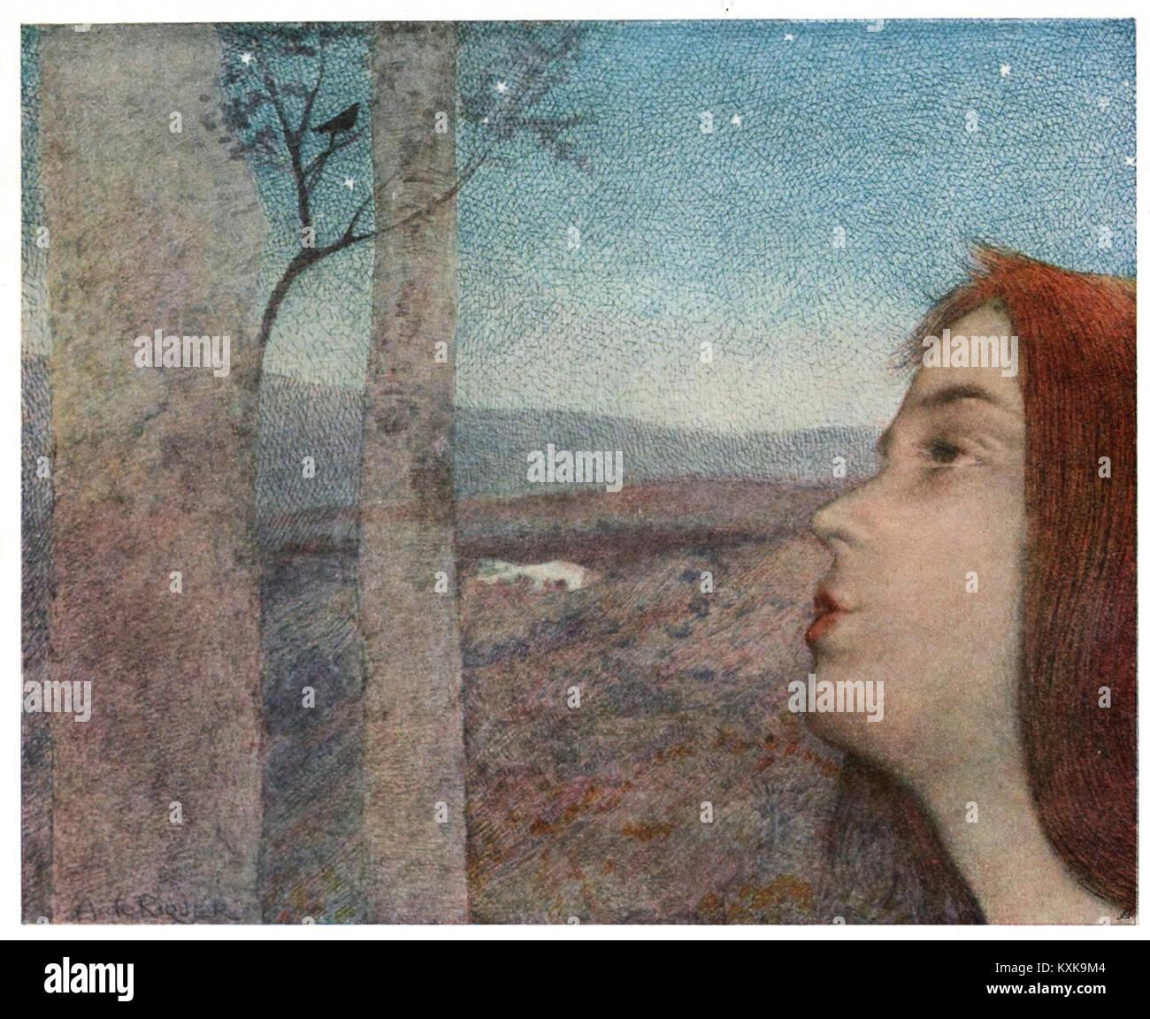 Appel à l'oiseau by Alexandre de Riquer - Stock Image
