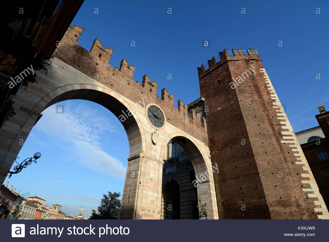 Verona is one of the most beautiful cities in the Veneto. It is famous for its Arena in  Brà square. Here is - Stock Image