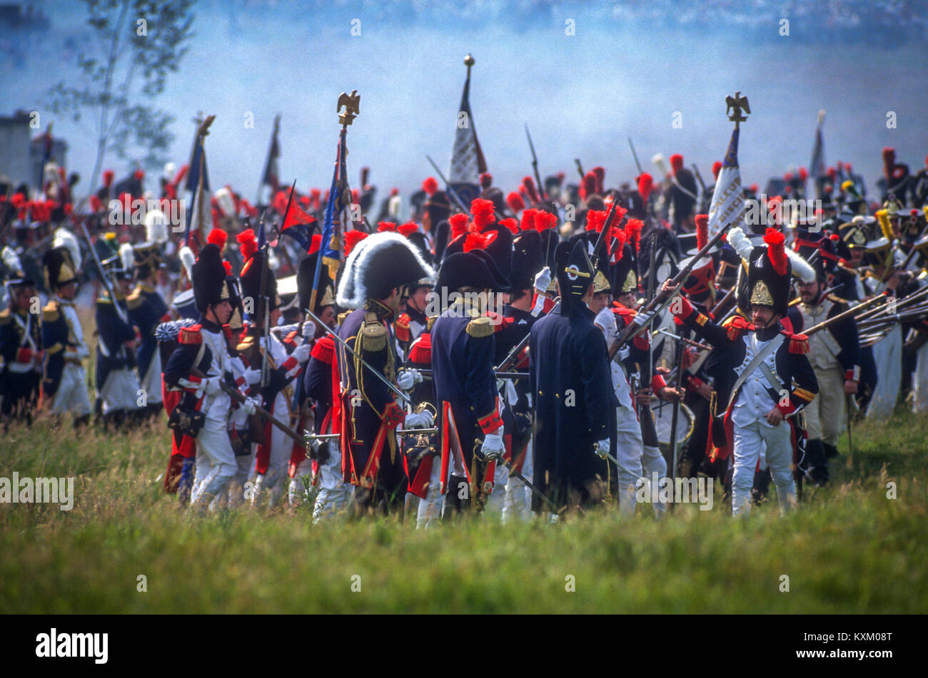 The Battle of Waterloo 175th anniversary re-enactment on June 19th 1990: - Stock Image