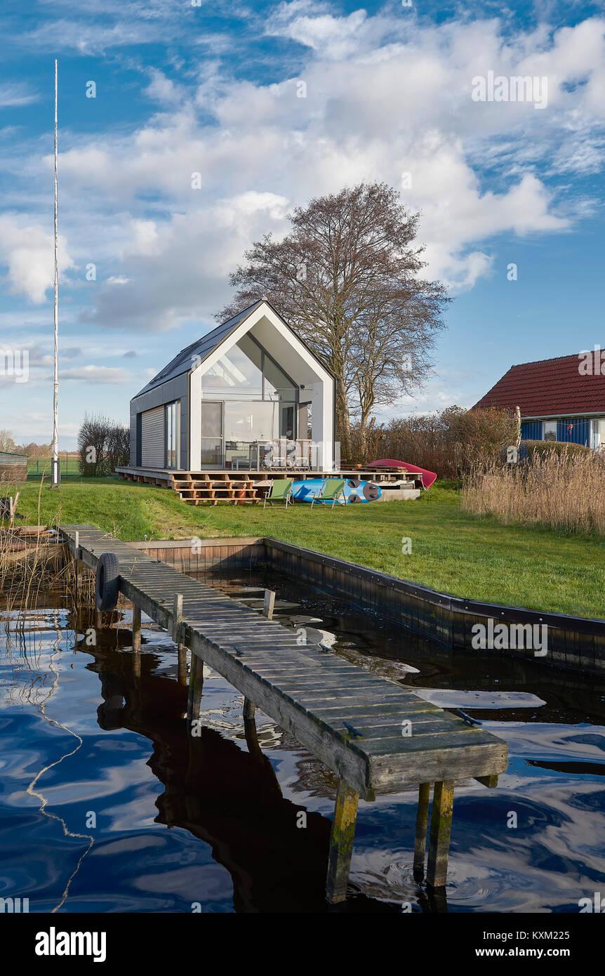 Ferienhaus am Großen Meer, Emden - Stock Image