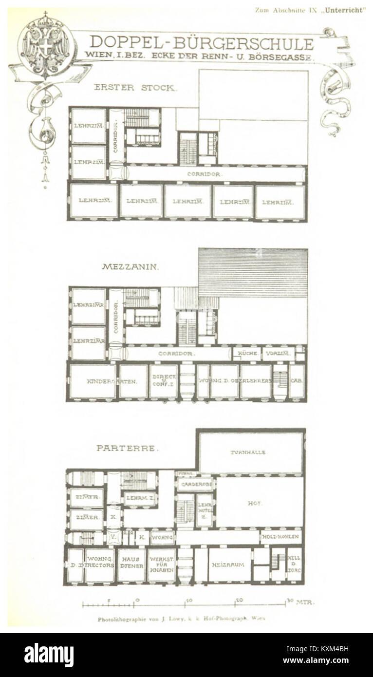 Berichte der Wiener Stadtverwaltung, 1873ff, div. Pläne und Ansichten 03 Stock Photo