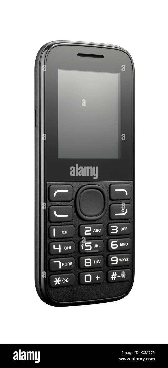 A cut out shot of a small portable handset. - Stock Image