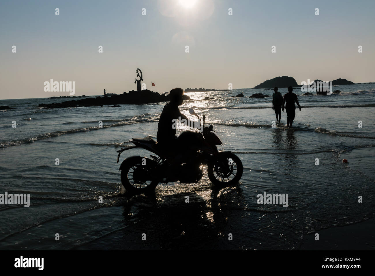 Drive in Beach Kerala, KTM ride - Stock Image