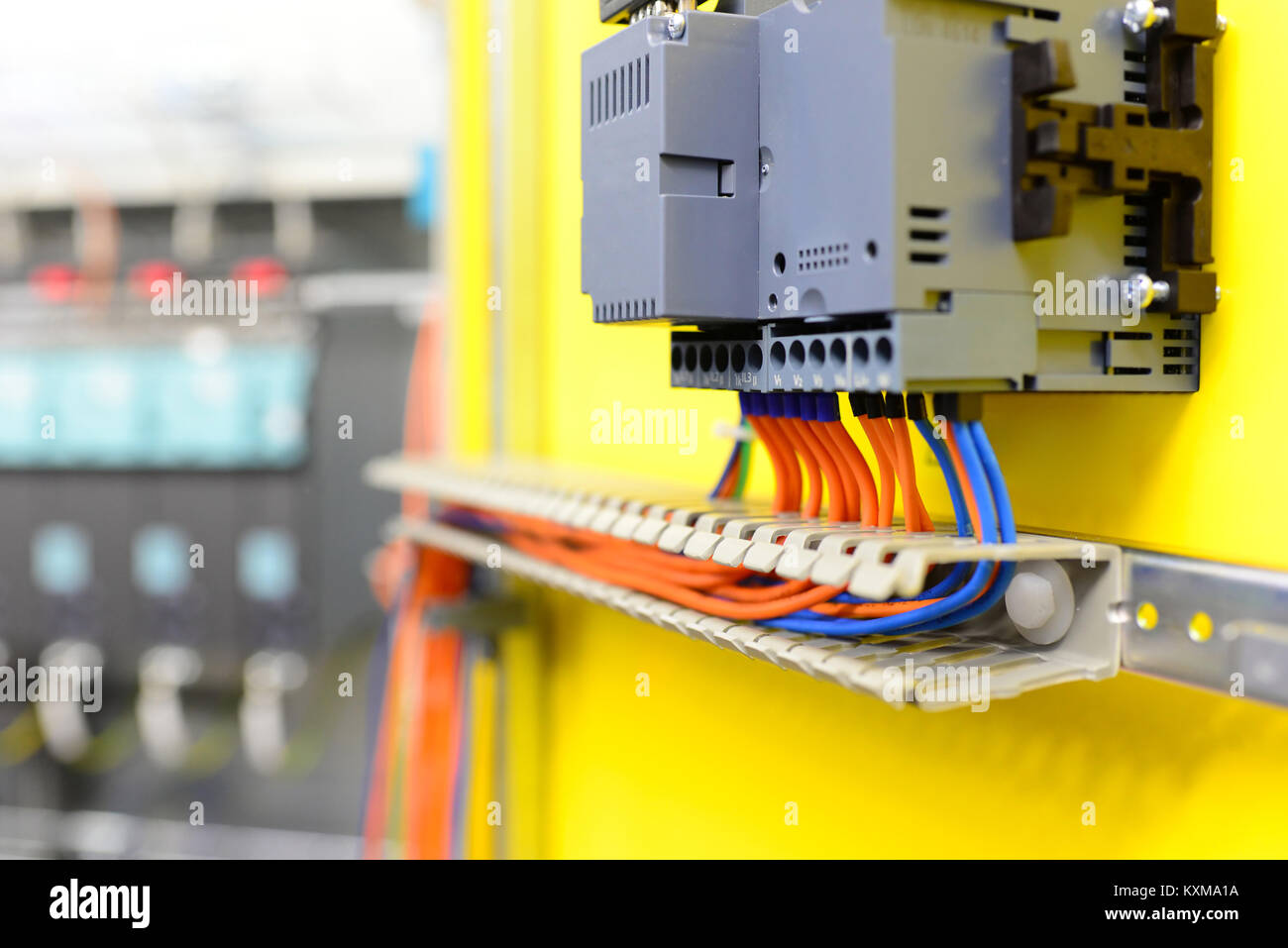 [WQZT_9871]  cables and wires of an industrial plant - production and assembly of Stock  Photo - Alamy | Industrial Machine Wiring |  | Alamy