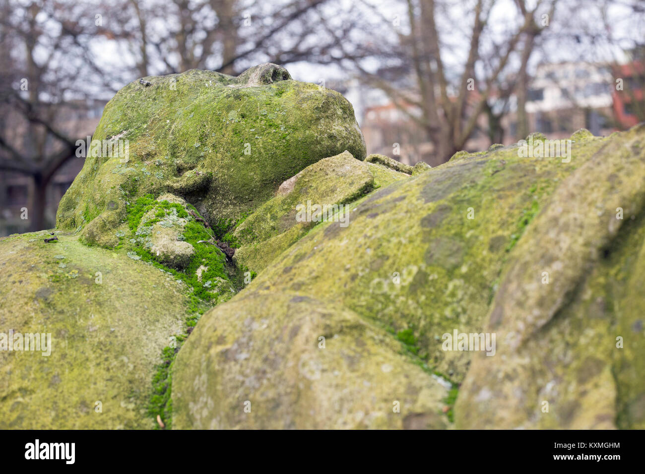 December 2017. London, England, Close up of the grave of John BUNYAN at Bunn Hill Cemetery. - Stock Image