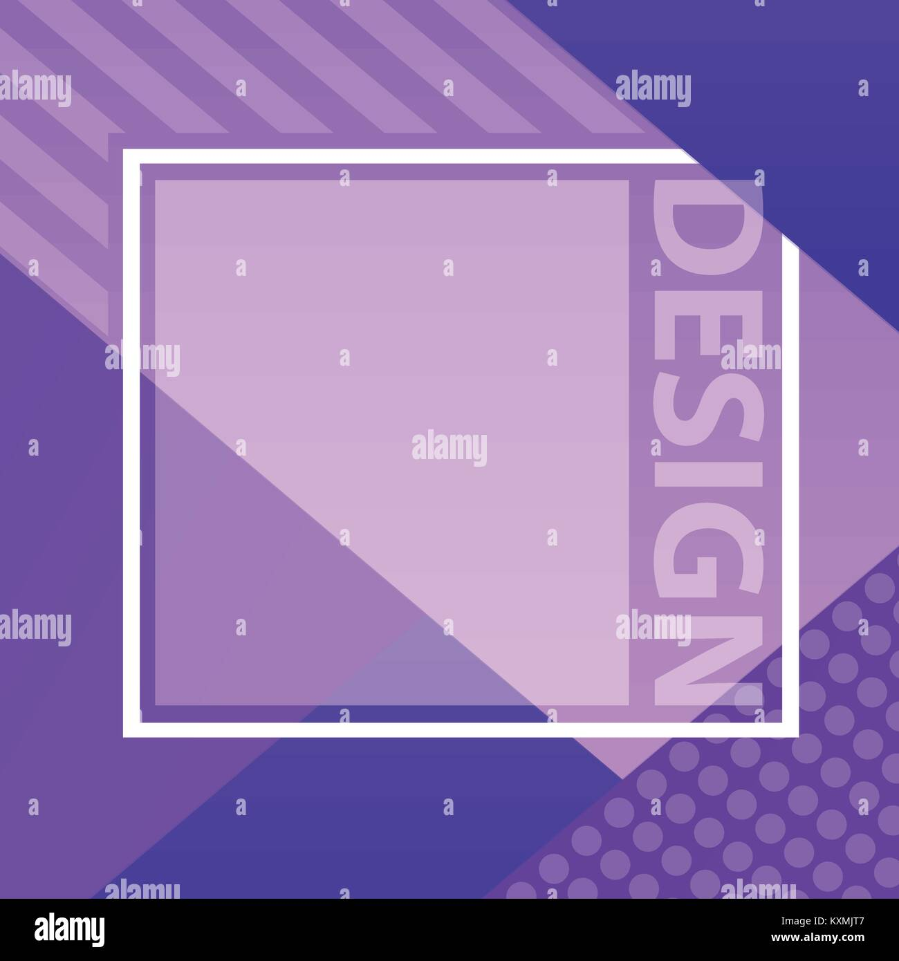 Abstract design. For Banners, Posters, Flyers. Ultraviolet color of 2018 - Stock Image