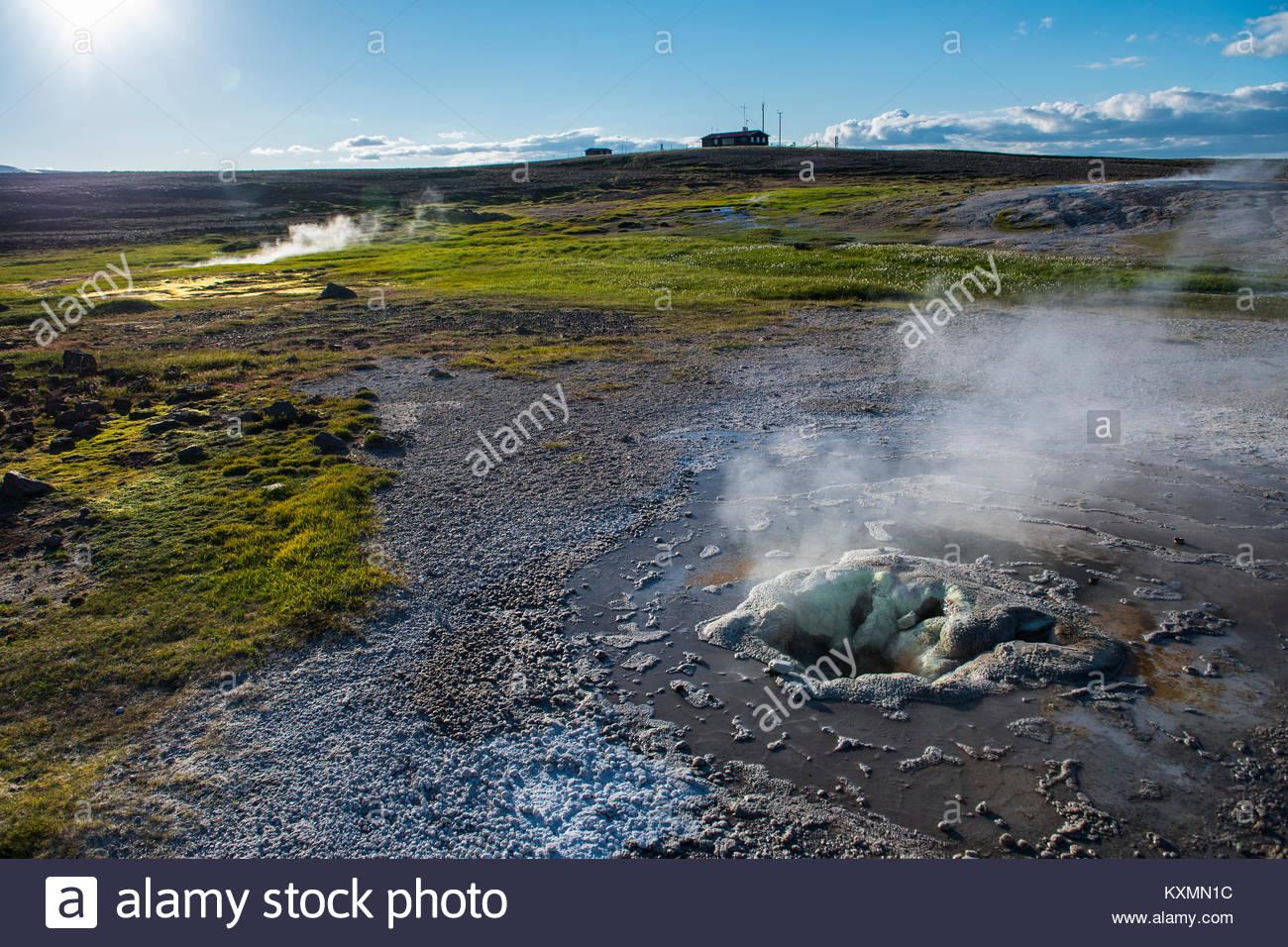 Geothermal hot springs,Hveravellir,Iceland - Stock Image