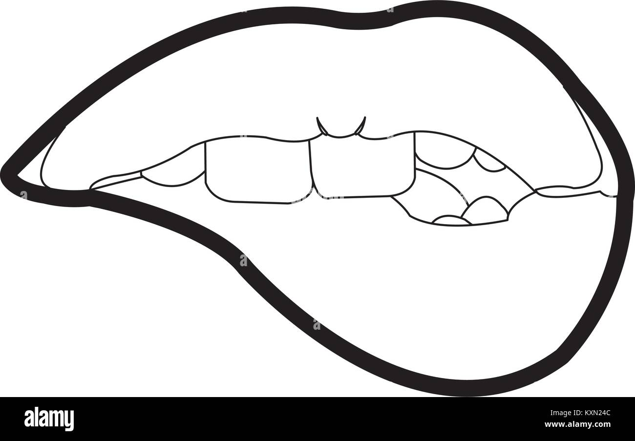 Mouth cartoon design - Stock Vector
