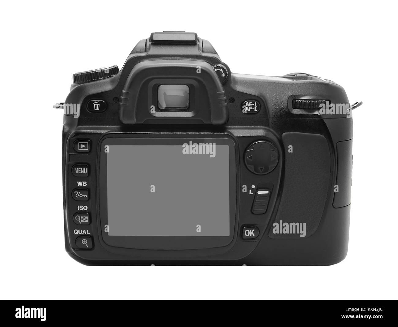 Dslr photo camera display - Stock Image
