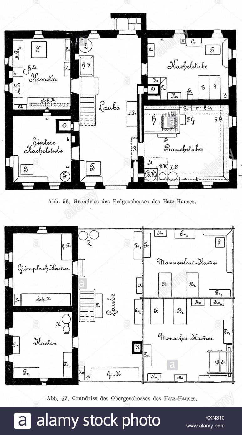 Bünker 1902 S 081 Sw Hatz Haus Tangern Seeboden   Stock Image