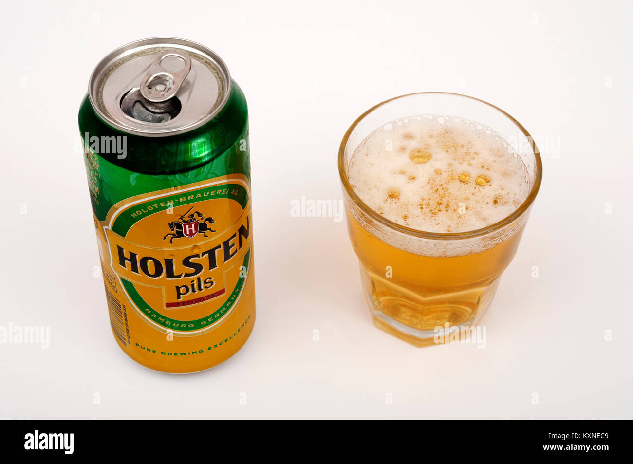 Holsten Pils beer - Stock Image
