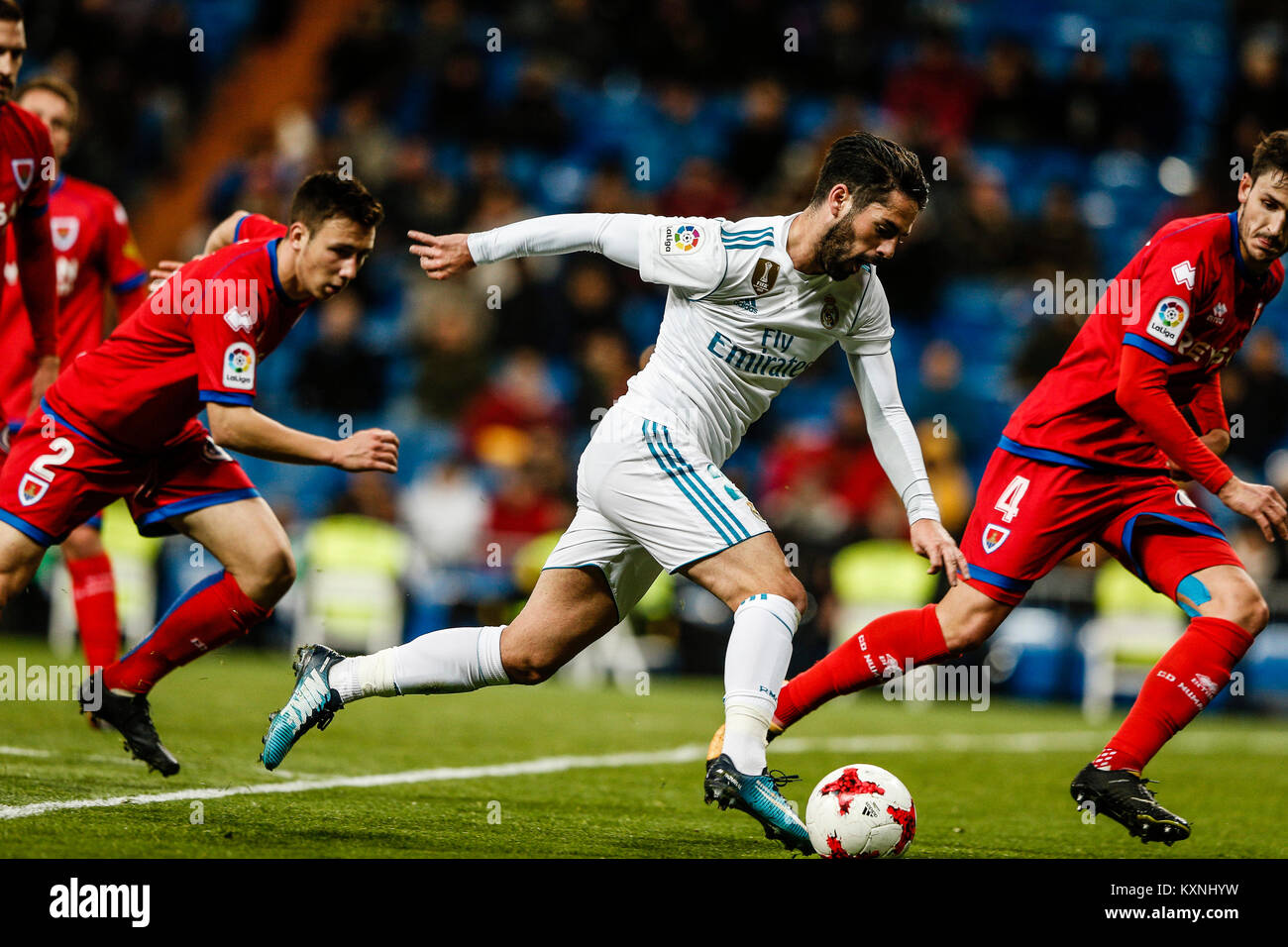 Madrid, Spain. 10th Jan, 2018. Francisco Alarcon (Real Madrid) controls the ball Copa del Rey match between Real - Stock Image