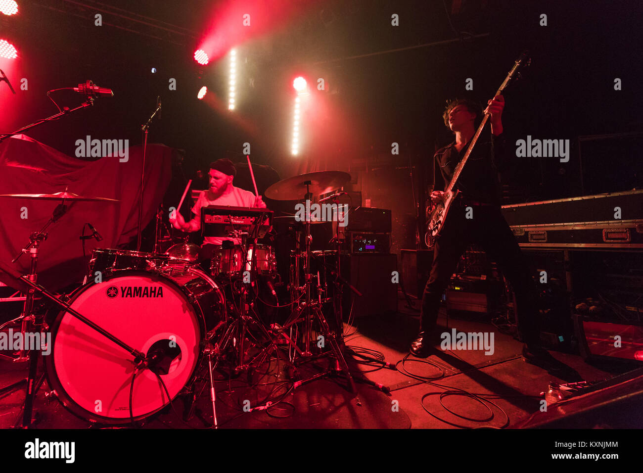 Cambridge, UK. 10th Jan, 2018. Yonaka perform live at the Cambridge Junction supporting The Cribs. Credit: Richard Stock Photo
