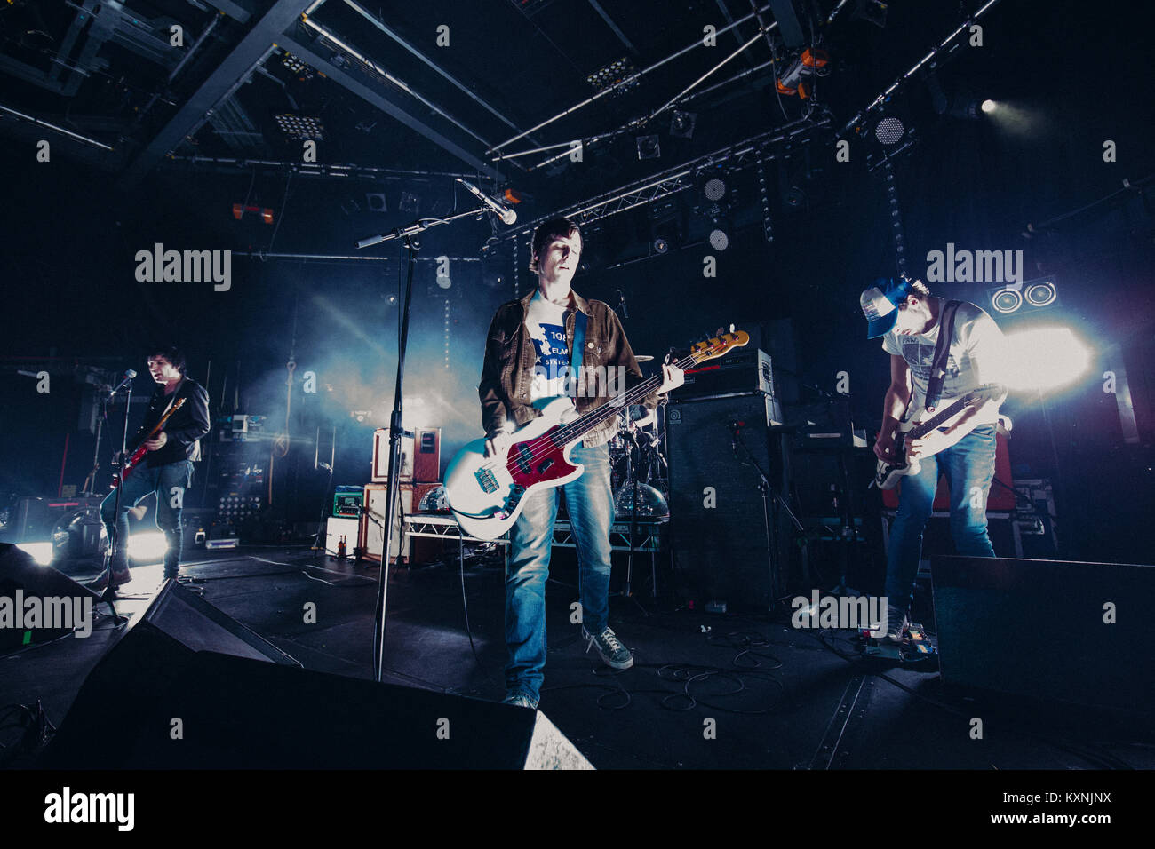 Cambridge, UK. 10th Jan, 2018. English indie rock band The Cribs perform live at the Cambridge Junction supporting Stock Photo