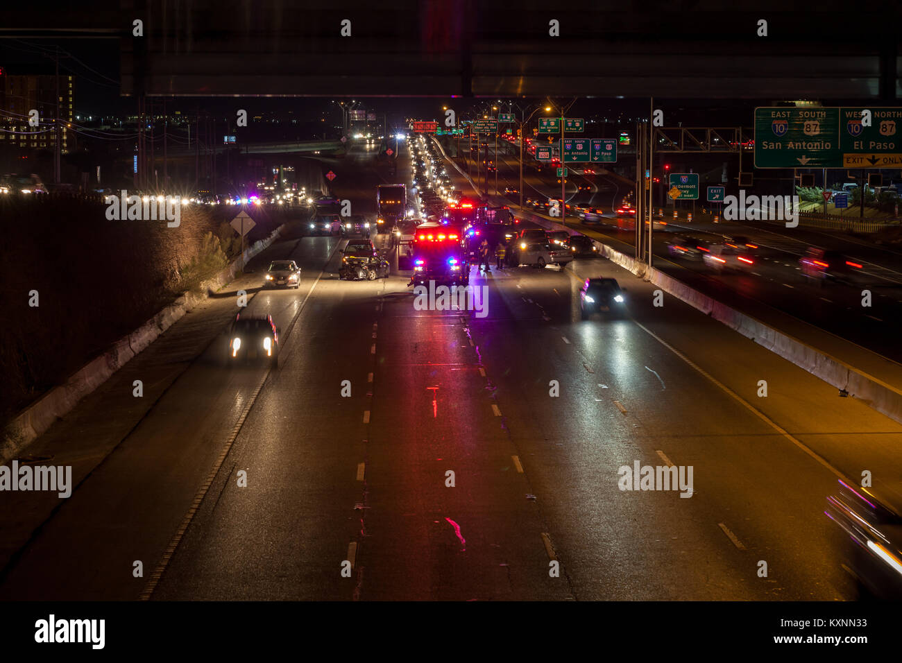San Antonio, Texas, USA  10th Jan, 2018  Major traffic