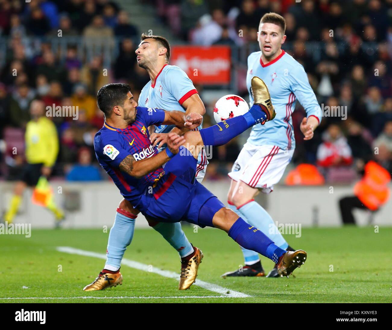 Barcelona, Spain. 11th Jan, 2018. Luis Suarez,11th January 2018, Camp Nou, Barcelona, Spain; Copa del Rey football, - Stock Image