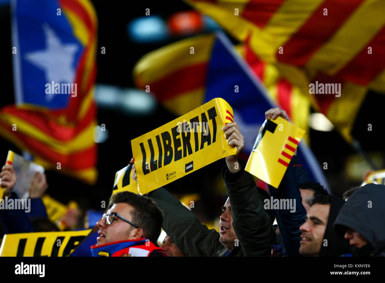 Barcelona, Spain. 11th Jan, 2018. 11th January 2018, Camp Nou, Barcelona, Spain; Copa del Rey football, round of - Stock Image
