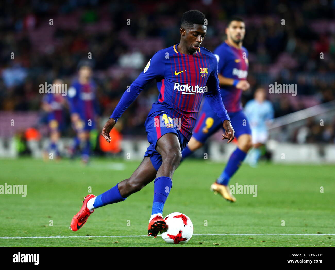 Barcelona, Spain. 11th Jan, 2018. Dembele,11th January 2018, Camp Nou, Barcelona, Spain; Copa del Rey football, - Stock Image
