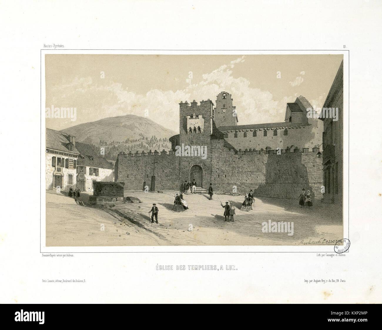 Eglise des Templiers, à Luz (Hautes-Pyrénées, 10) - Fonds Ancely - B315556101 A AUBRUN 1 006 - Stock Image