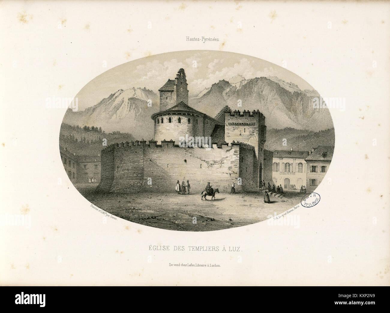 Eglise des Templiers à Luz (Hautes-Pyrénées) - Fonds Ancely - B315556101 A GORSE 1 013 - Stock Image