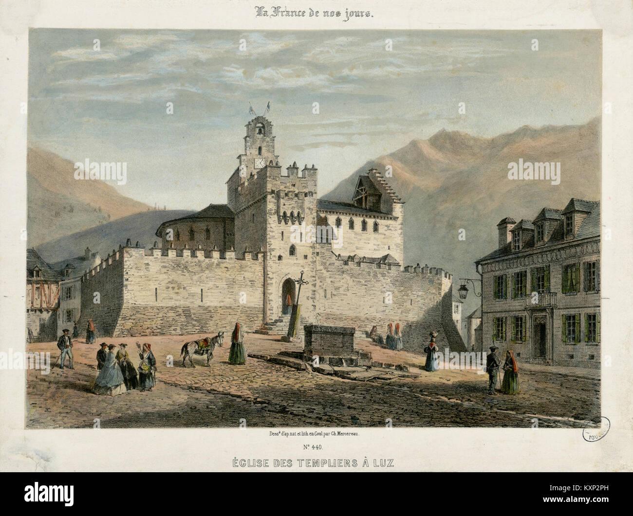 Eglise des Templiers à Luz - Fonds Ancely - B315556101 A MERCEREAU 7 023 - Stock Image
