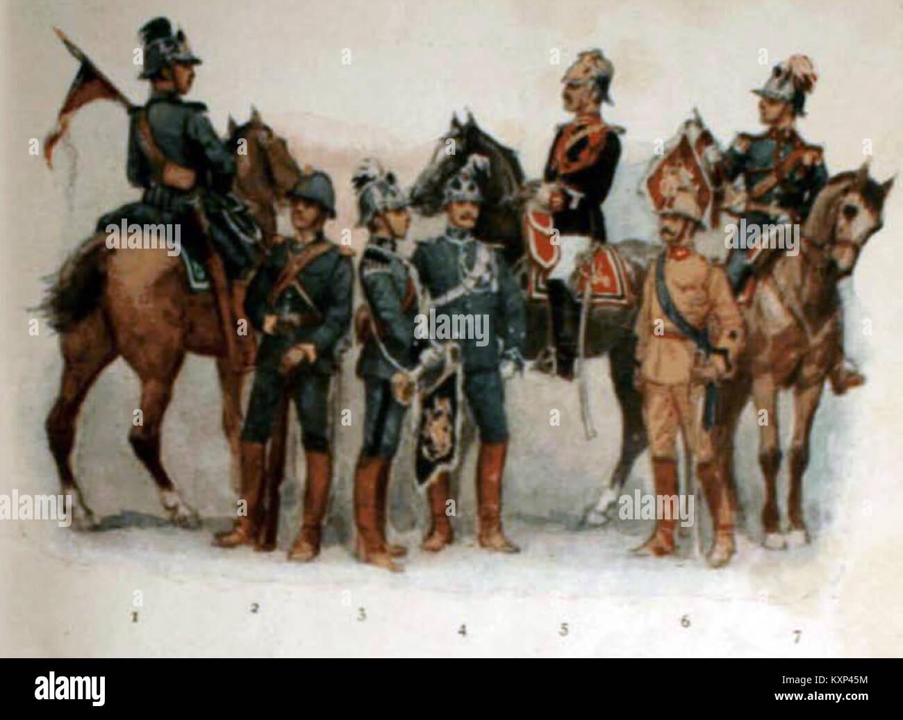 Ejército de Chile - Caballeria - Stock Image