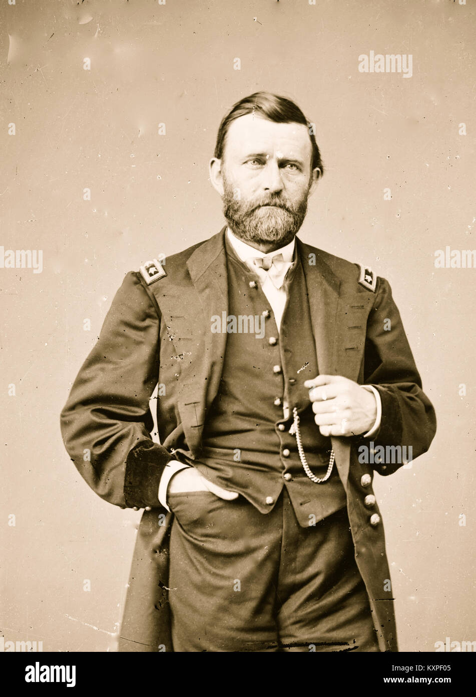 Ulysses S, Grant Portrait - Stock Image