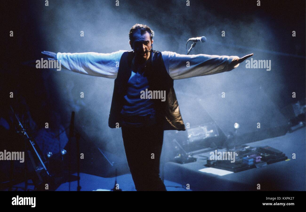 Peter Gabriel during The Secret World tour at The Summit in Houston Texas USA on July 30, 1993    **NO MEXICO** Stock Photo