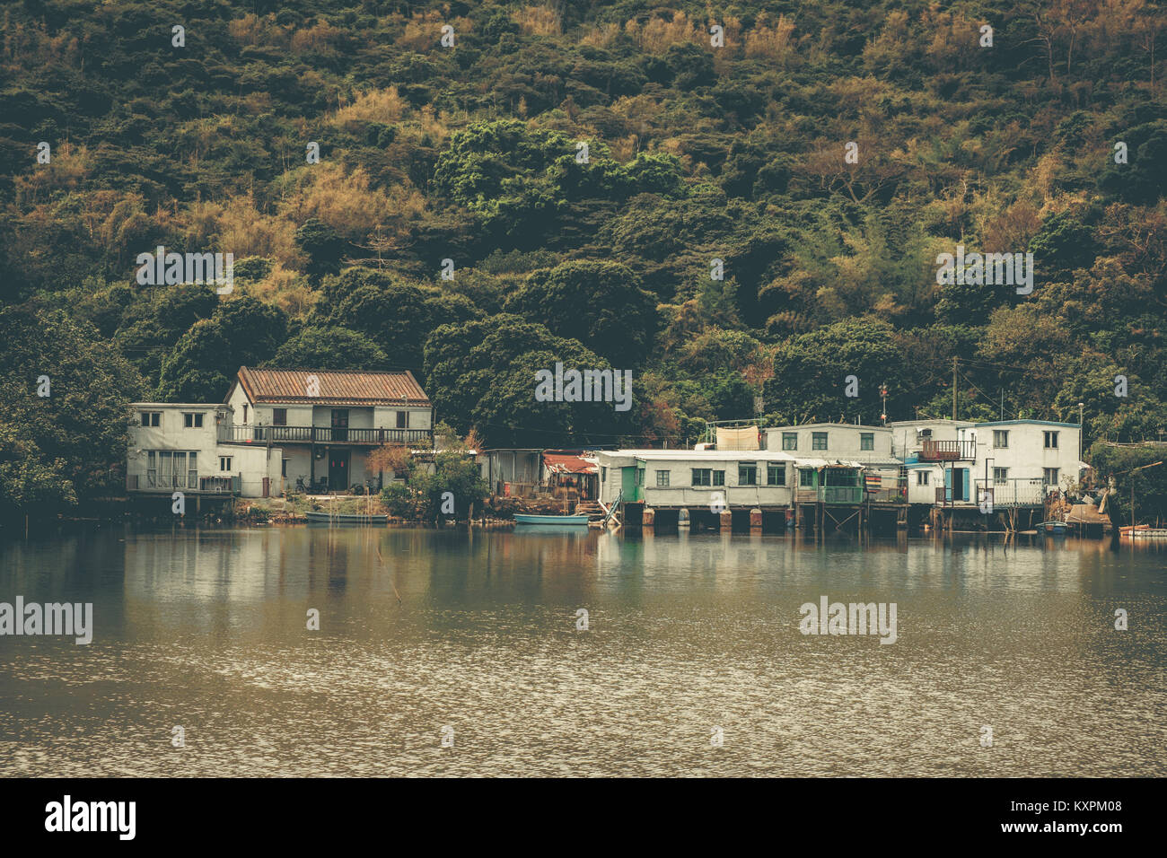 Village setting on Lantau Island, away from the hustle and bustle in the city of Hong Kong. - Stock Image