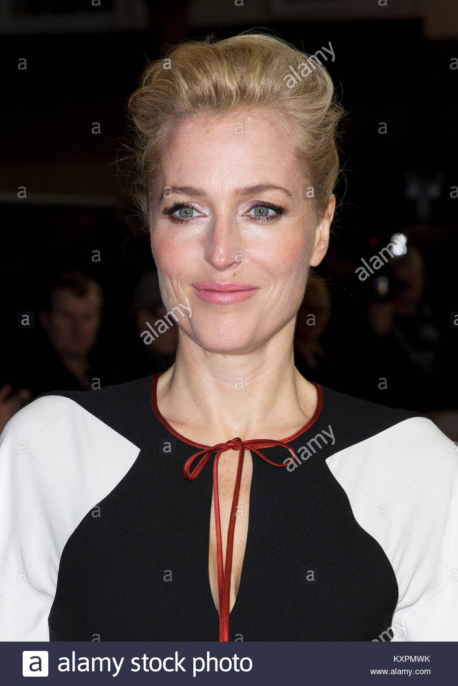 File photo dated 21/02/17 of Gillian Anderson, who has said she had decided to leave The X-Files after the first - Stock Image