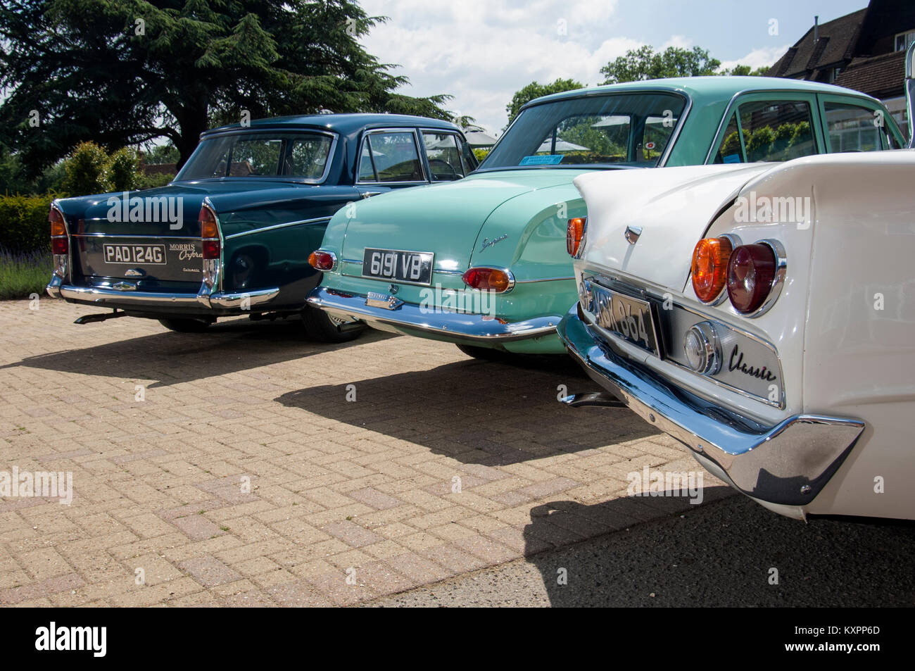 Classic British family cars of the 60s, Ford Consul Classic, Morris ...