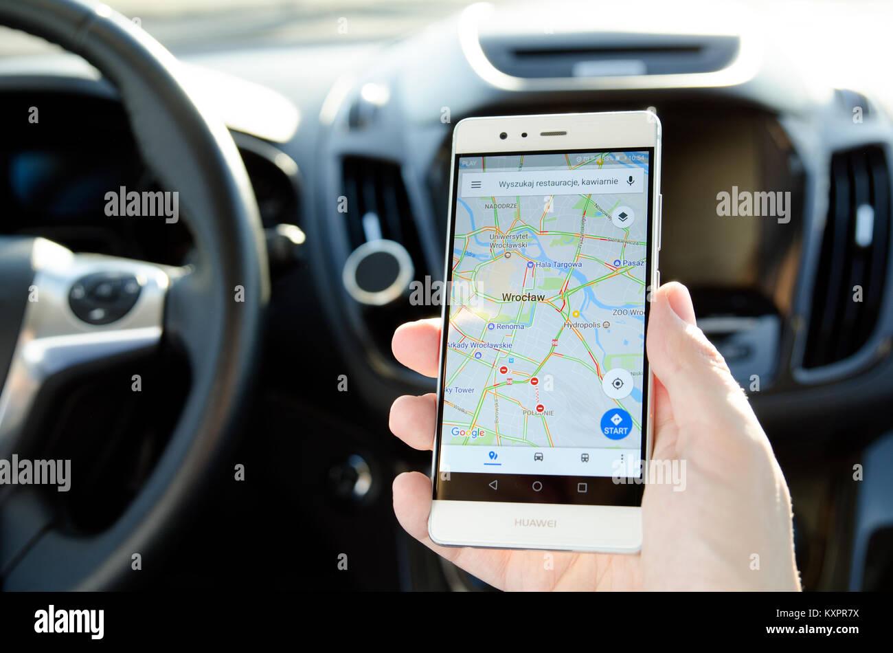 Google Maps And Car Stock Photos & Google Maps And Car Stock