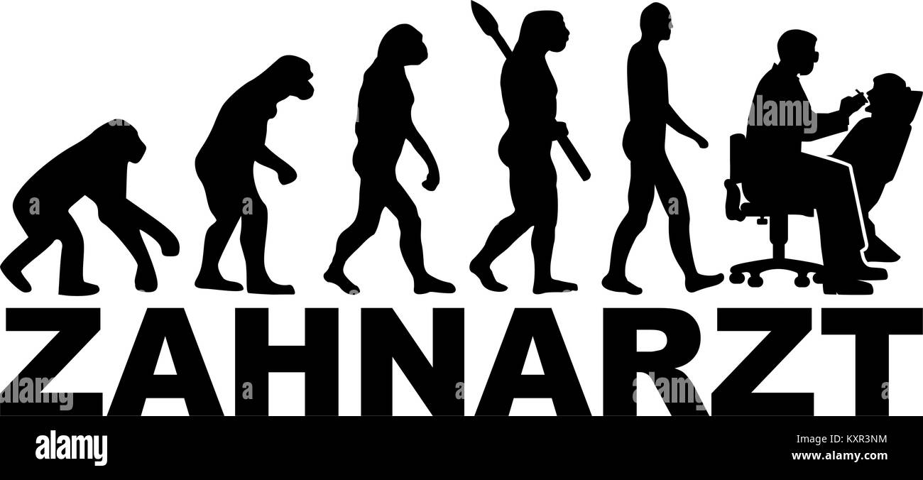 Dentist evolution with german job title Stock Vector Art ...
