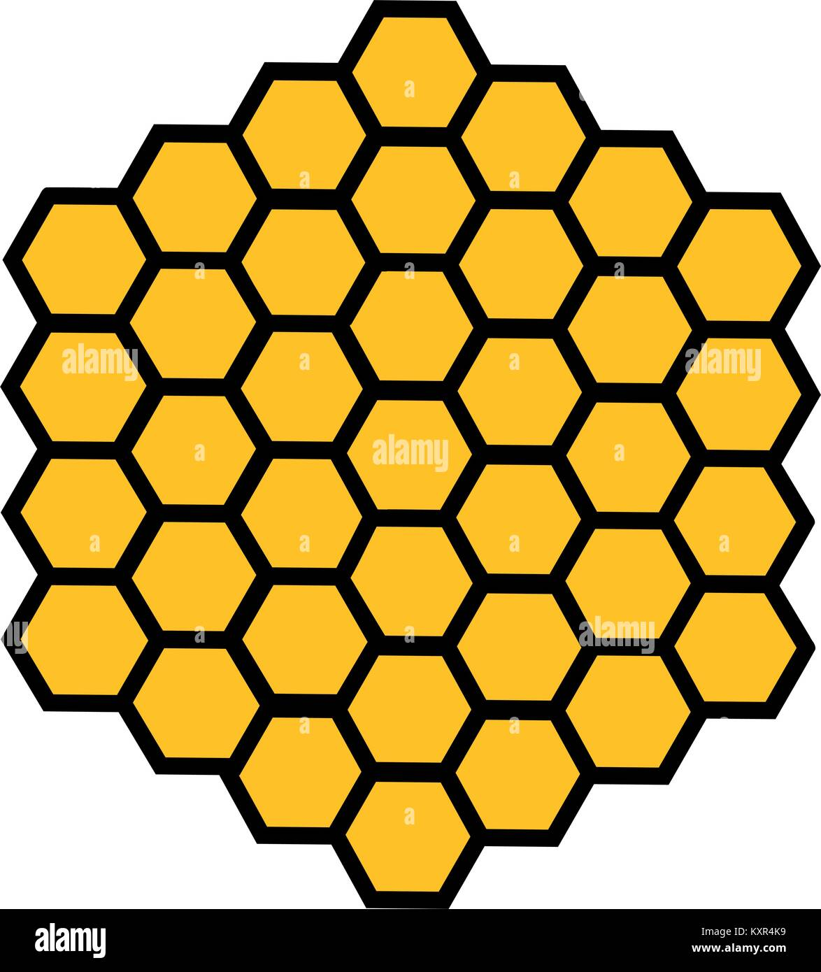 bee honeycomb with honey in a hexagon stock vector art rh alamy com honeycomb vector pattern free download honeycomb vector free