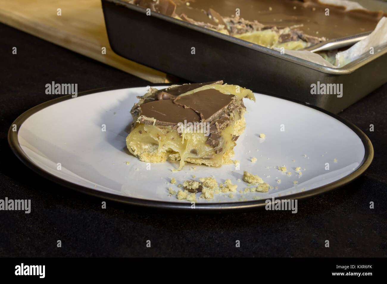 Home made Millionaire Shortbread - Stock Image